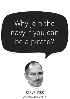 Why join the navy if you want to be a pirate?